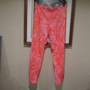 J Crew Cotton pink Floral Pjs Beach Pants